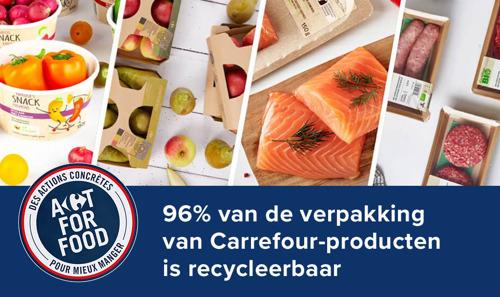 18 maart: Internationale Dag van de recyclage: 96% van de verpakkingen van Carrefour-producten is recycleerbaar