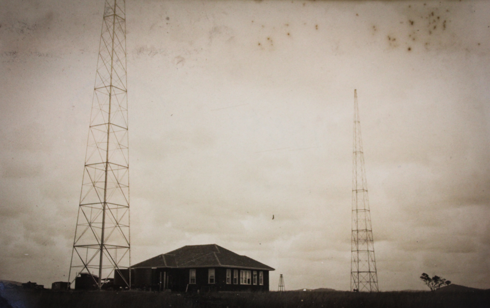The original station and two transmitters at Pine Tree driveway Gracemere