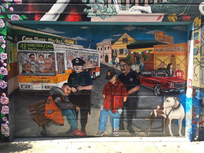 San Francisco protest mural