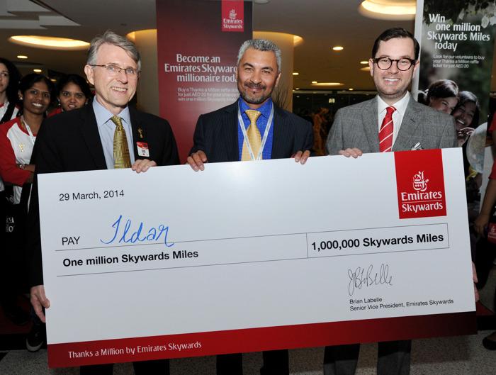 Emirates Skywards celebrates new Miles Millionaire