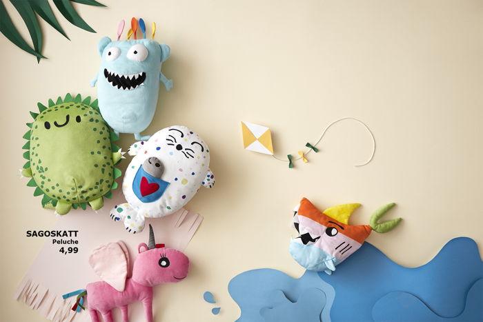 Preview: IKEA lance SAGOSKATT, des peluches adorables qui éveillent l'imagination