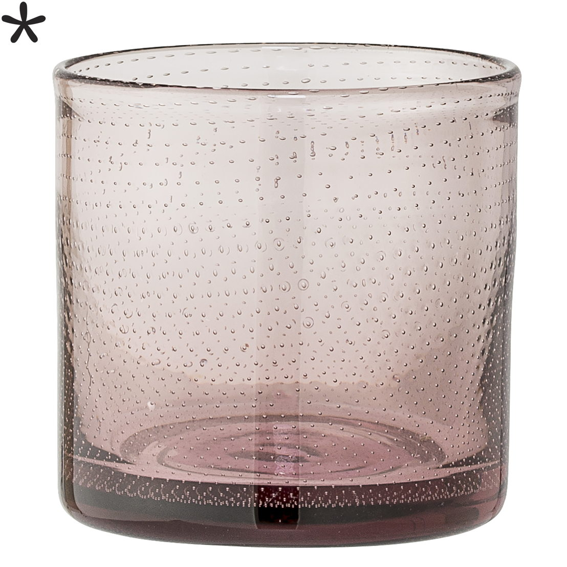 Bloomingville Waxinelichthouder puntjes roze glas - €21