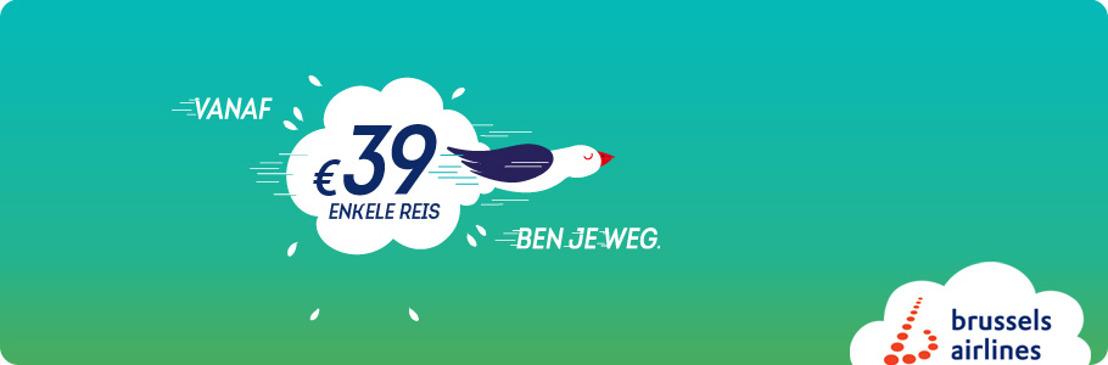 Brussels Airlines introduceert one-way tarieven om nog meer keuze te bieden