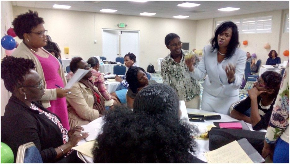 Team Grenada present their arguments.