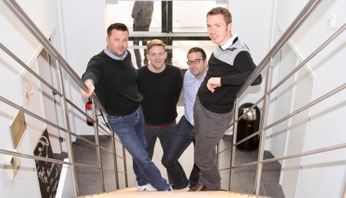 Founders (1) into.care® by Pridiktiv<br/>Jeroen De Backer - Thomas Van der Auwermeulen - Bram Vandewalle - Sam Verschueren
