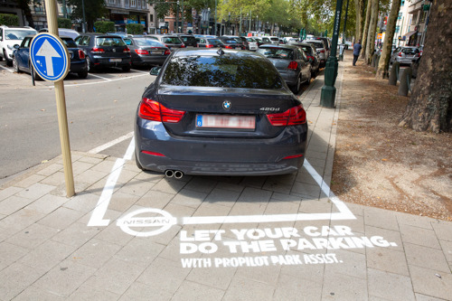 Nissan and TBWA turn stupidly parked cars into smart outdoor ads