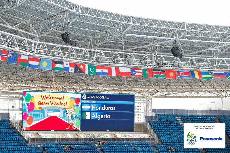 Panasonic @ JJOO Rio 2016 Pantallas LED en Estadio Futbol