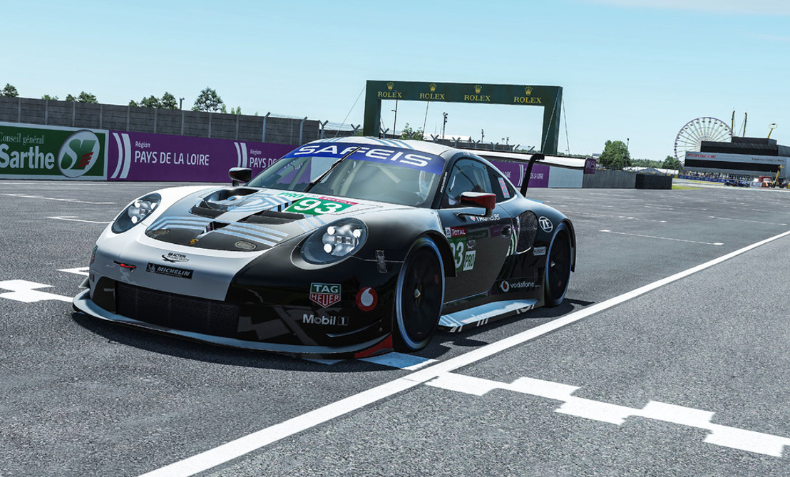 Race GTE, virtual 24 Hours of Le Mans, France