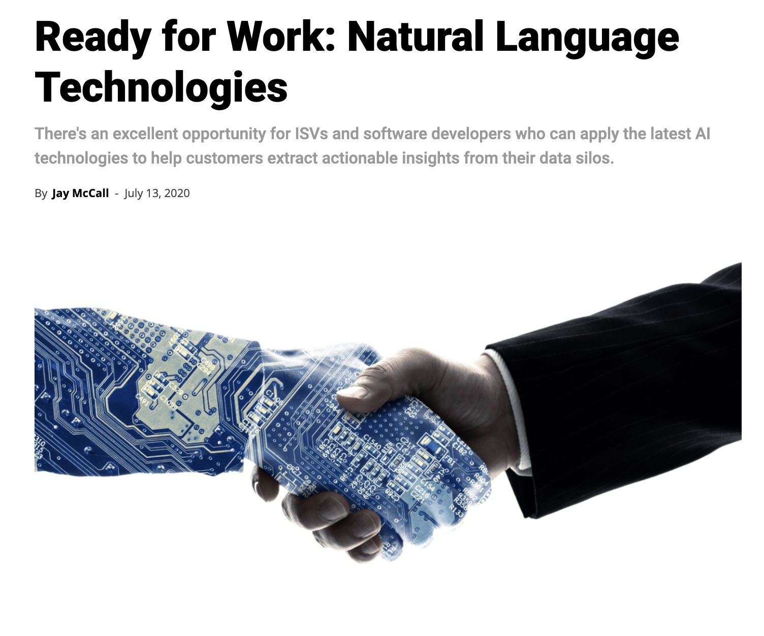 Ready for Work: Natural Language Technologies