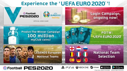 KONAMI VERKÜNDET EURO 2020-KAMPAGNE FÜR eFootball PES 2020 AUF KONSOLE UND MOBILGERÄTEN