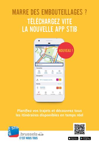 Une nouvelle appli STIB pour être plus mobile en transport public