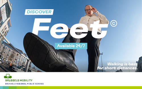 Brussels Mobility and mortierbrigade launch 'Feet©'.