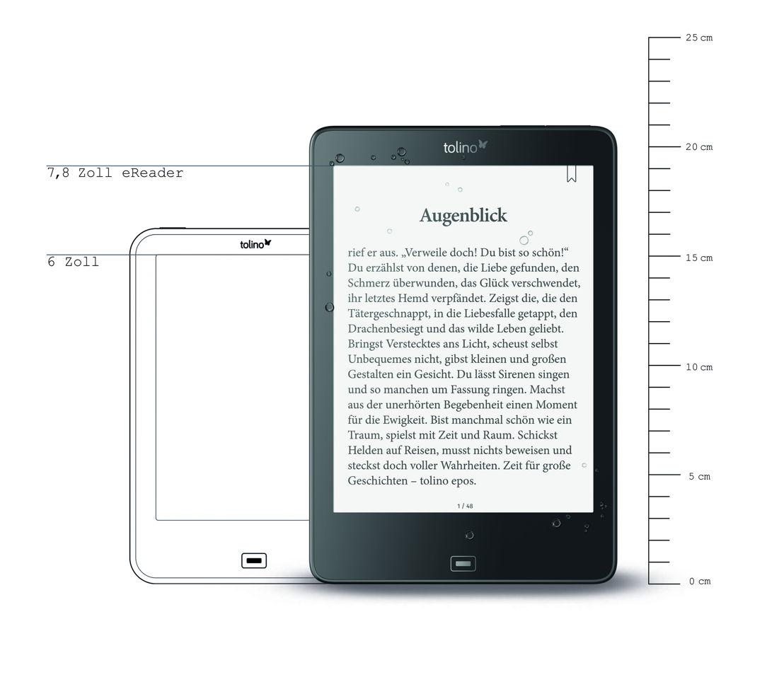 Der tolino epos im XL-Format setzt die Innovationslinie bei den Geräten fort.