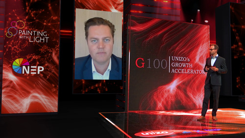 UNIZO Limburg versterkt ondernemers met inspirerend en innovatief G100-zomerevent in hightech Virtual Event Studio van Painting with Light op C-MINE