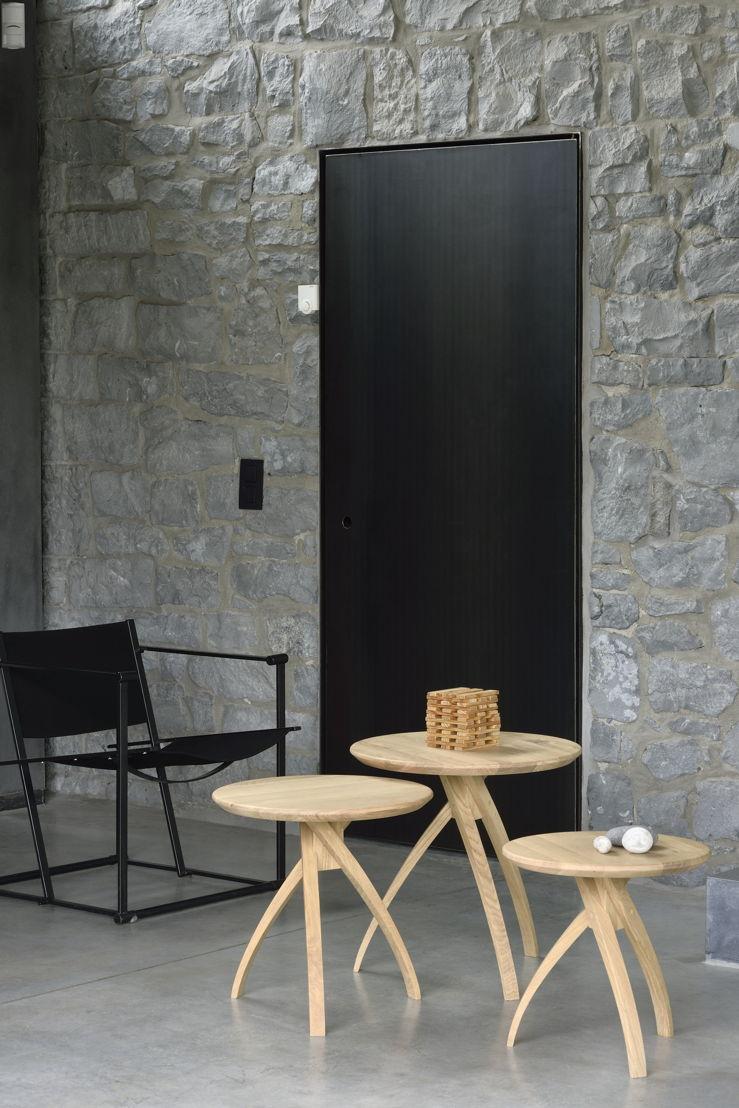 Ethnicraft Oak Twist side tables