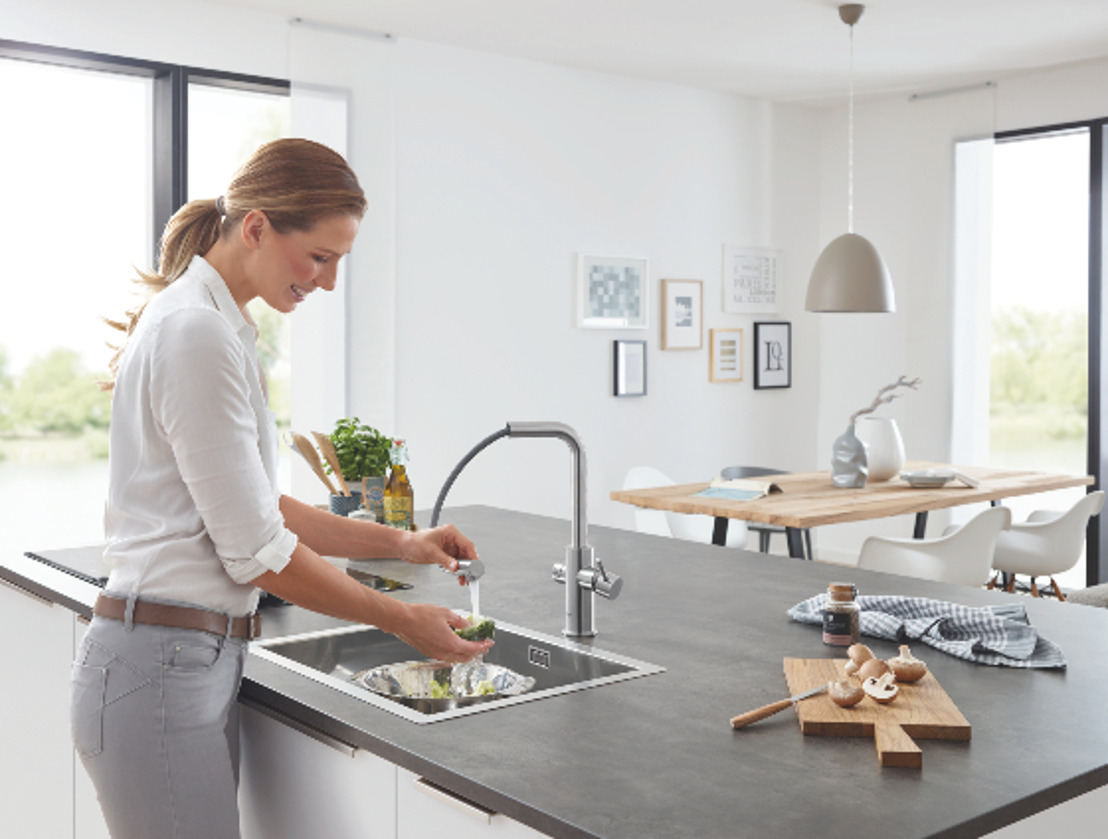 Keukeninnovatie van het jaar 2019: slim watersysteem GROHE Blue Home Connected