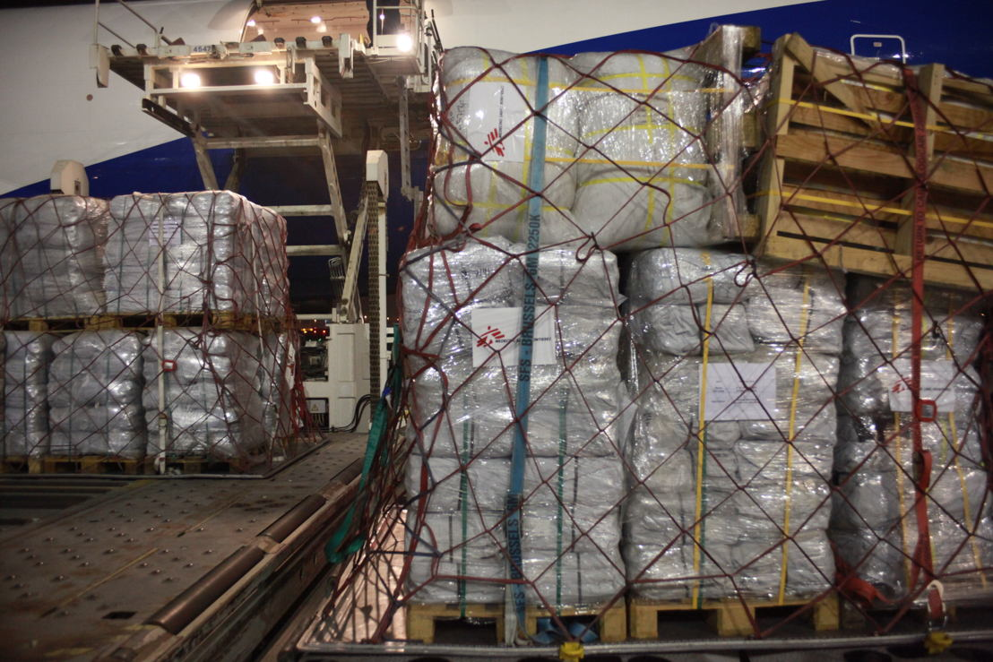 MSF Logistics sending a cargo via Dubaï with supplies for the Rohingya crisis in Bangladesh. Photographer: Scott Hamilton