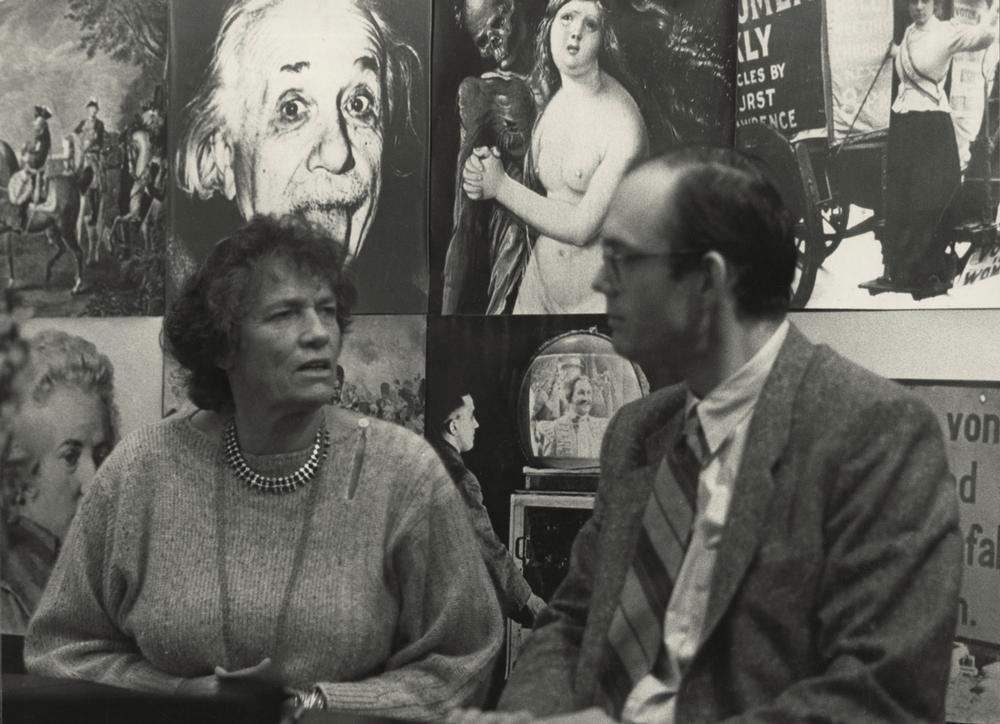 Justus Göpel avec Marielise Göpel sur le stand d