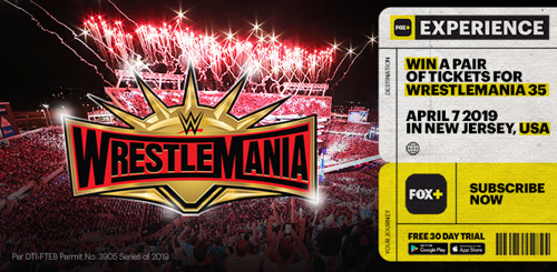 FOX+ is taking two lucky fans to WrestleMania 35