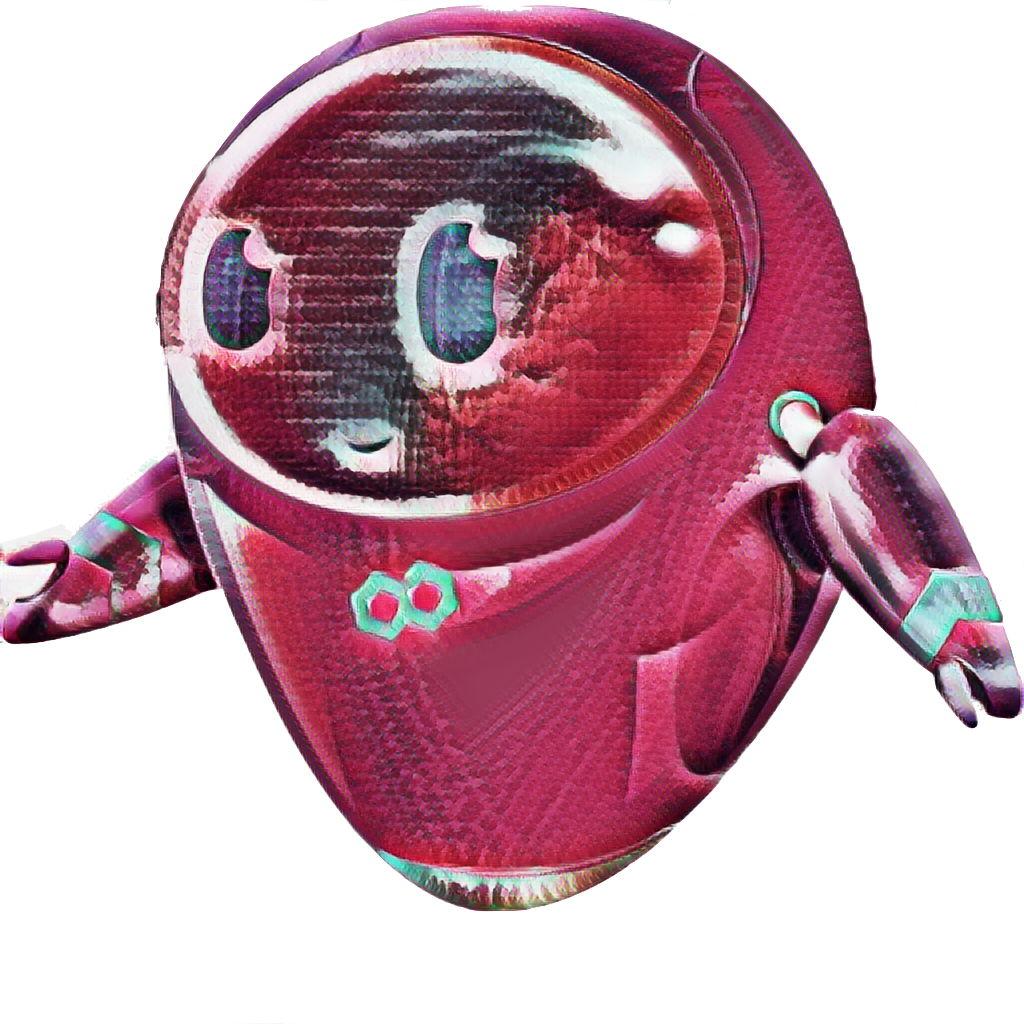 De mascotte van Dataroots werd voor de gelegenheid in een Beatroots jasje gestopt