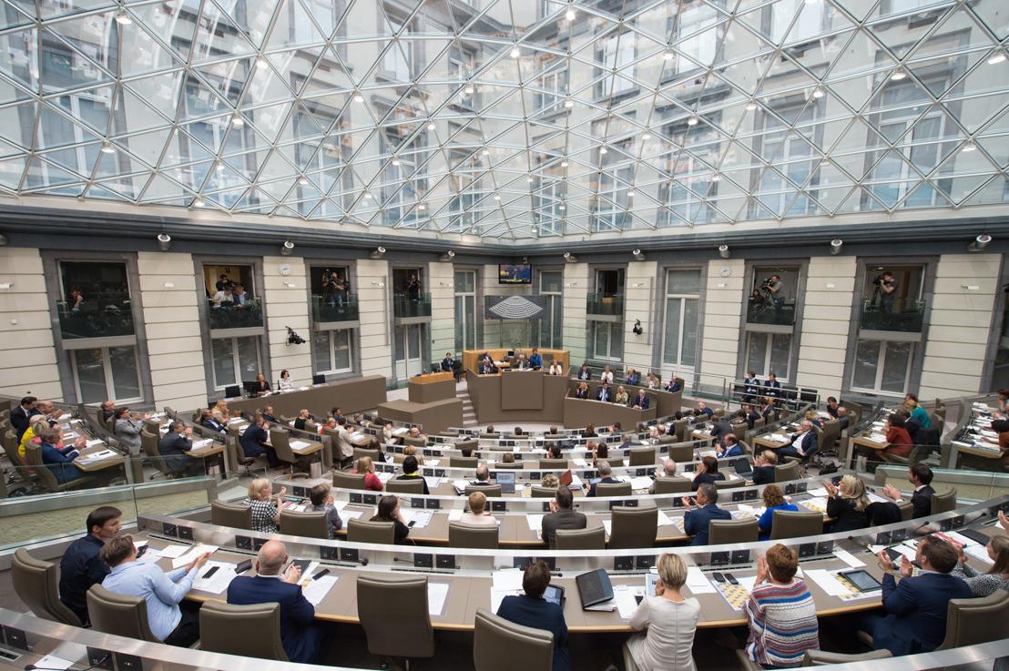 Vlaams Parlement opent op 24 september nieuw zittingsjaar