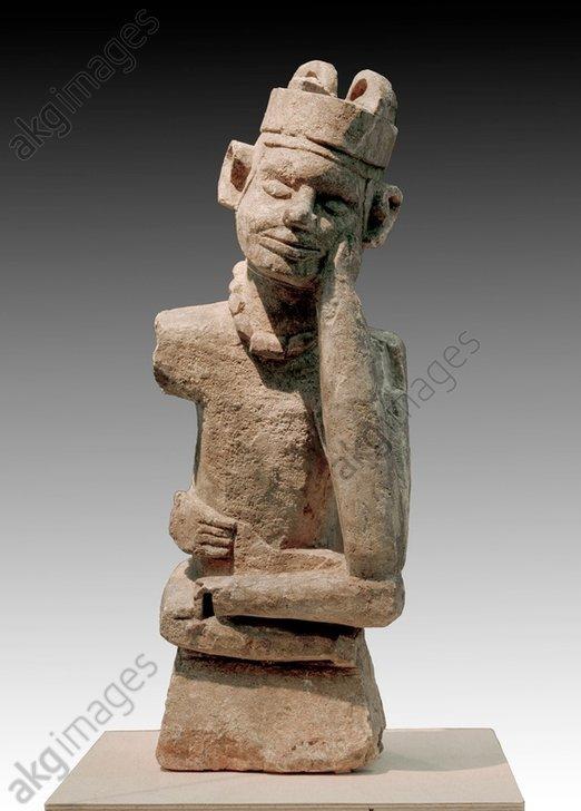 Tomb figure ntandi, Congo, Kisilua, Matadi, Lower Congo, Democratic Republic of the Congo.<br/>Grave figure ntandi (fumani).<br/>Soapstone, height 46 cm.<br/>Tervuren, Musée Royal de l&#039;Afrique Centrale.<br/><br/>AKG264476
