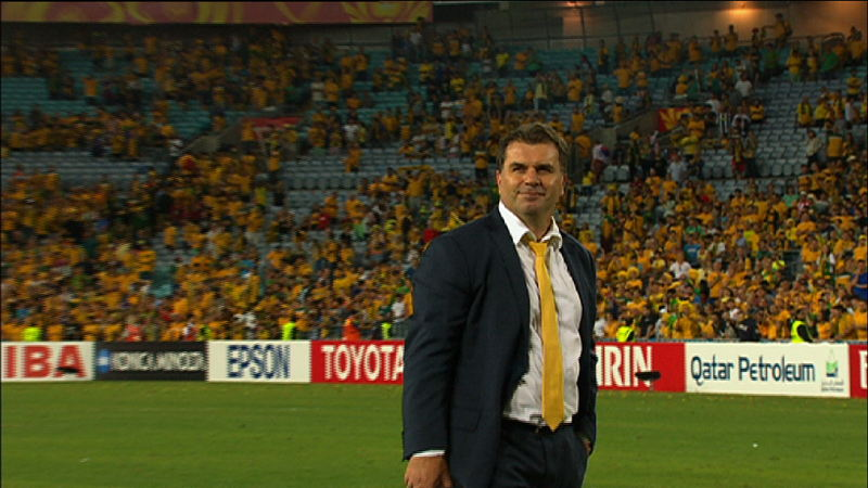 Ange in front of crowd