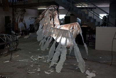 Firebird puppet in production - pic Luke Younge