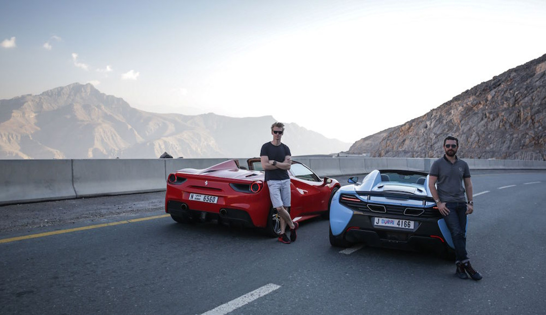 RAS AL KHAIMAH TERRAIN PUT TO THE TEST BY BRITISH RACING DRIVER OLIVER WEBB