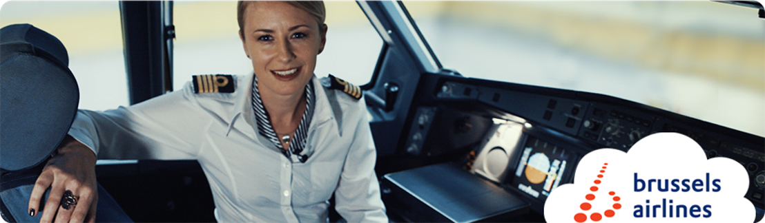 Brussels Airlines pilots and cabin crew members auction a look behind the scene for charity.