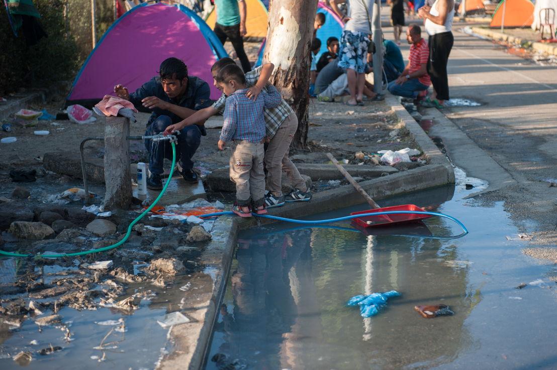 Slechte hygiënische omstandigheden in Kara Tepe kamp © Georgios Makkas