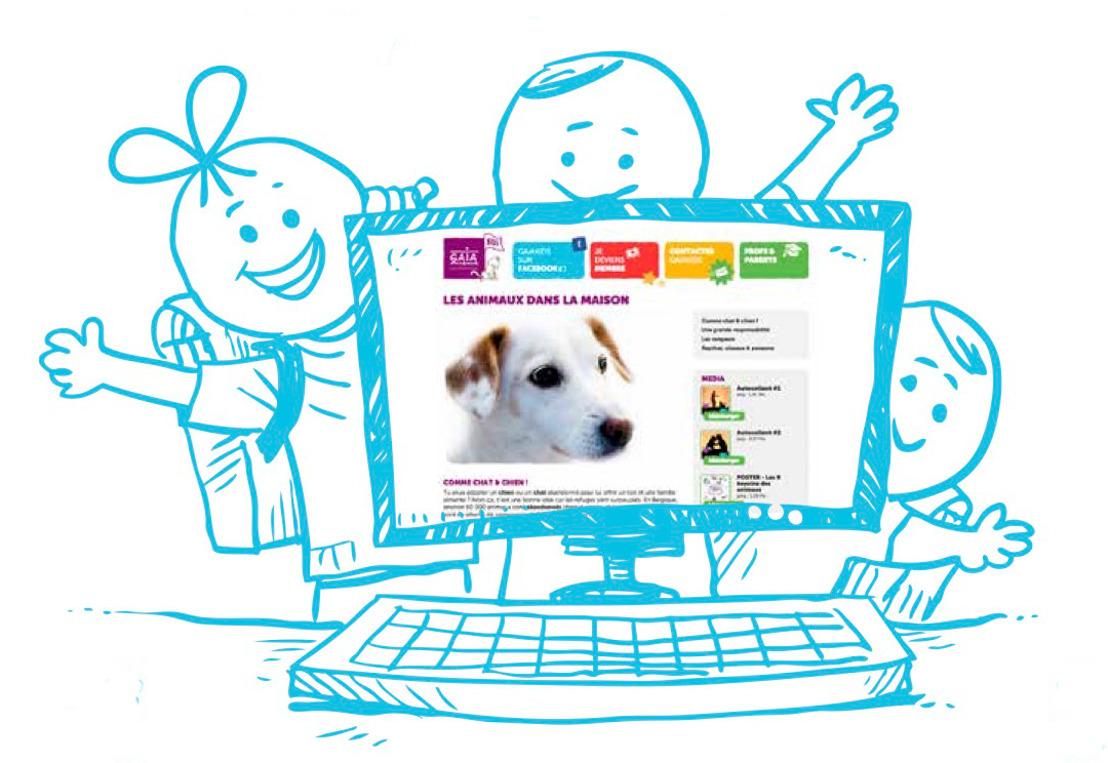 www.gaiakids.be : GAIA lance son nouveau site pour les jeunes de 7 à 77 ans