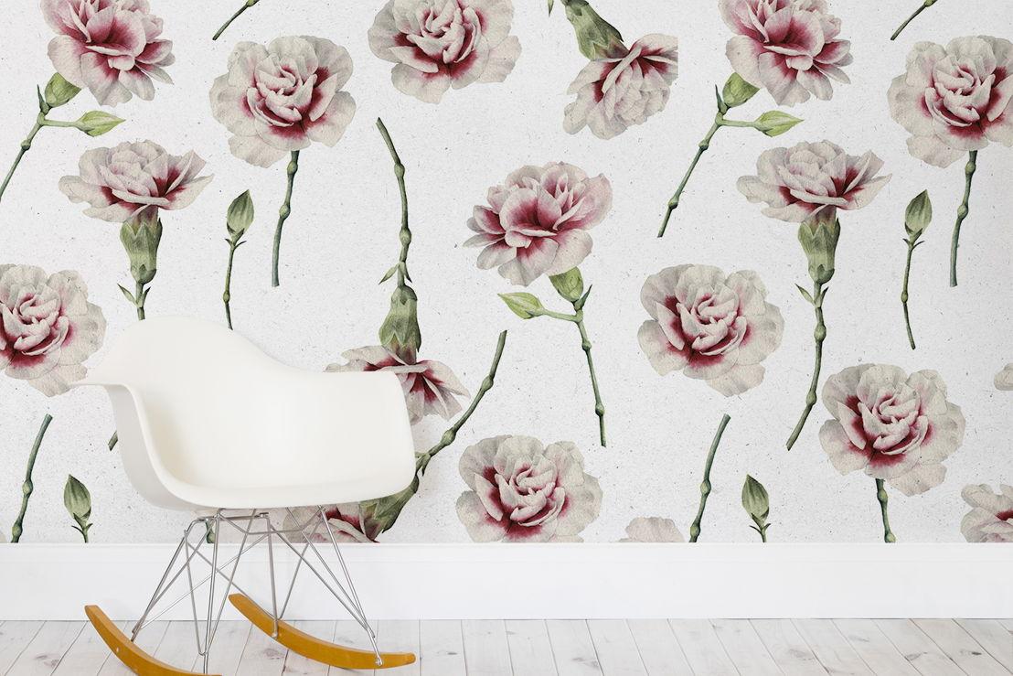 Vintage Carnations Print