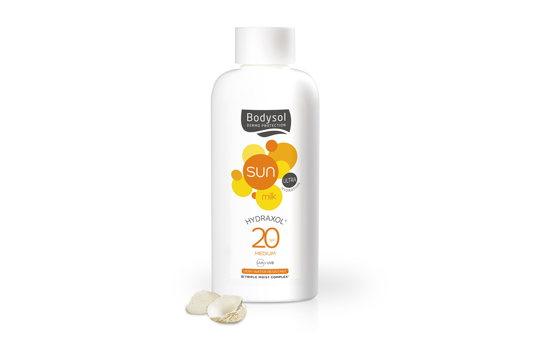 Bodysol Sunmilk Hydraxol SPF 20: 13,95 € (200 ml)
