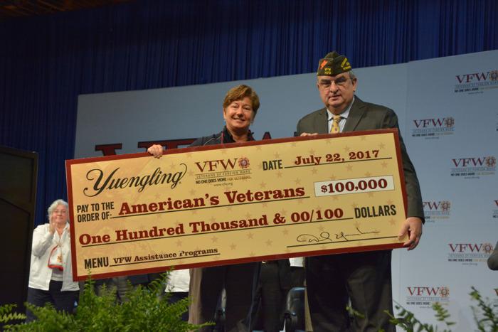 America's Veterans receive $100,000 donation