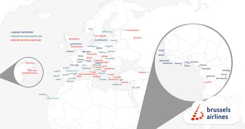 Brussels Airlines se prépare pour l'été avec la réouverture de destinations de vacances attrayantes