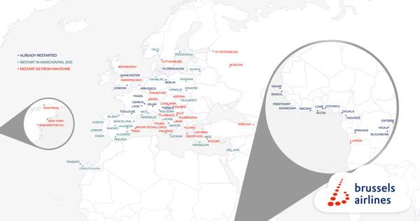 Preview: Brussels Airlines se prépare pour l'été avec la réouverture de destinations de vacances attrayantes