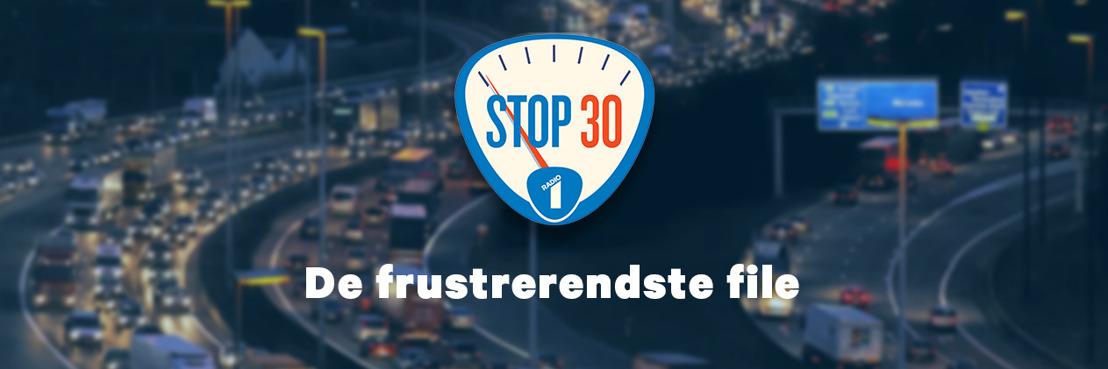 Radio 1 zet de mobiele luisteraars aan het denken met STOP 30, de file-actieweek