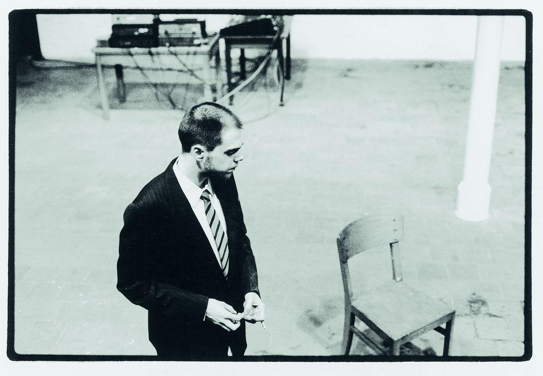 Het is nieuwe maan en het wordt aanzienlijk frisser, Frank Vercruysse, tg STAN, productie Beursschouwburg, 1992. Foto Koen de Waal