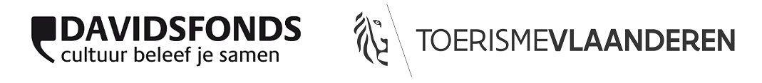 Logo's Davidsfonds en Toerisme Vlaanderen
