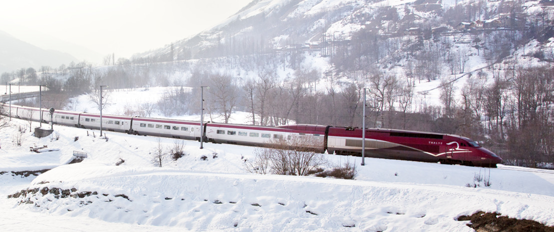 De Sneeuw-Thalys brengt wintersportliefhebbers naar de voet van de pistes
