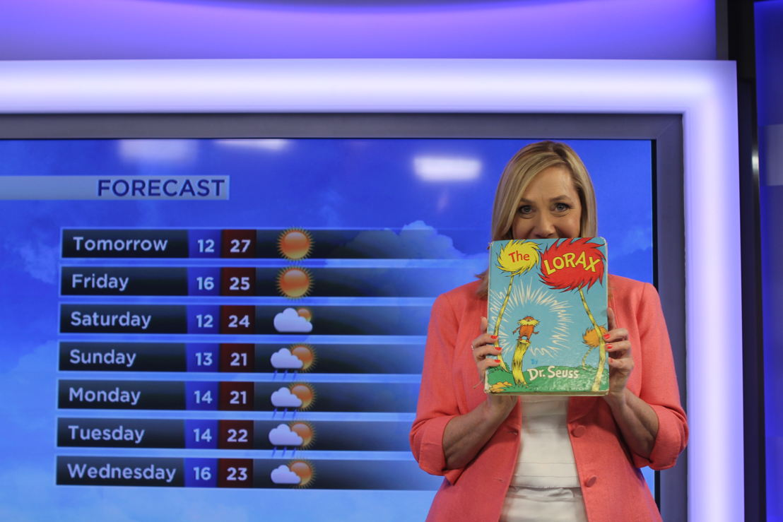 Rain, hail or shine, ABC's weather presenter, Jenny Woodward loves a good book!