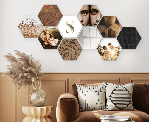 Mix je mooiste foto's met behangpapier tot een persoonlijke wandcollage
