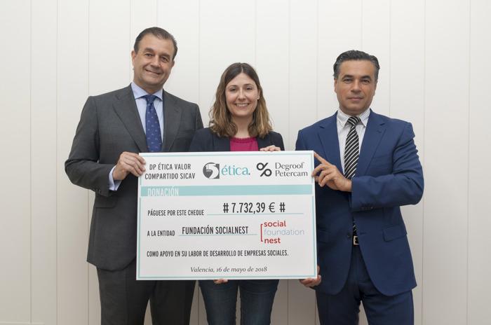 Ética Patrimonios y Degroof Petercam donan a Socialnest parte de los honorarios de gestión de su SICAV responsable