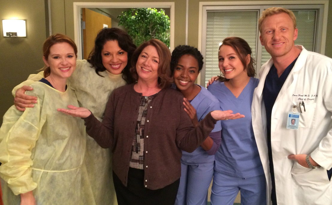 Maggie with some of the cast from the show.