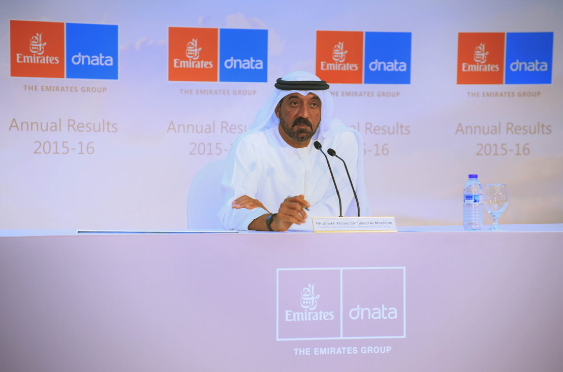 His Highness Sheikh Ahmed bin Saeed Al Maktoum, Chairman & Chief Executive, Emirates Airline and Group today announced The Emirates Group Annual Results 2015-2016