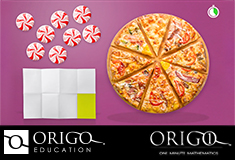Pinterest Pin of an ORIGO 1 Math animation