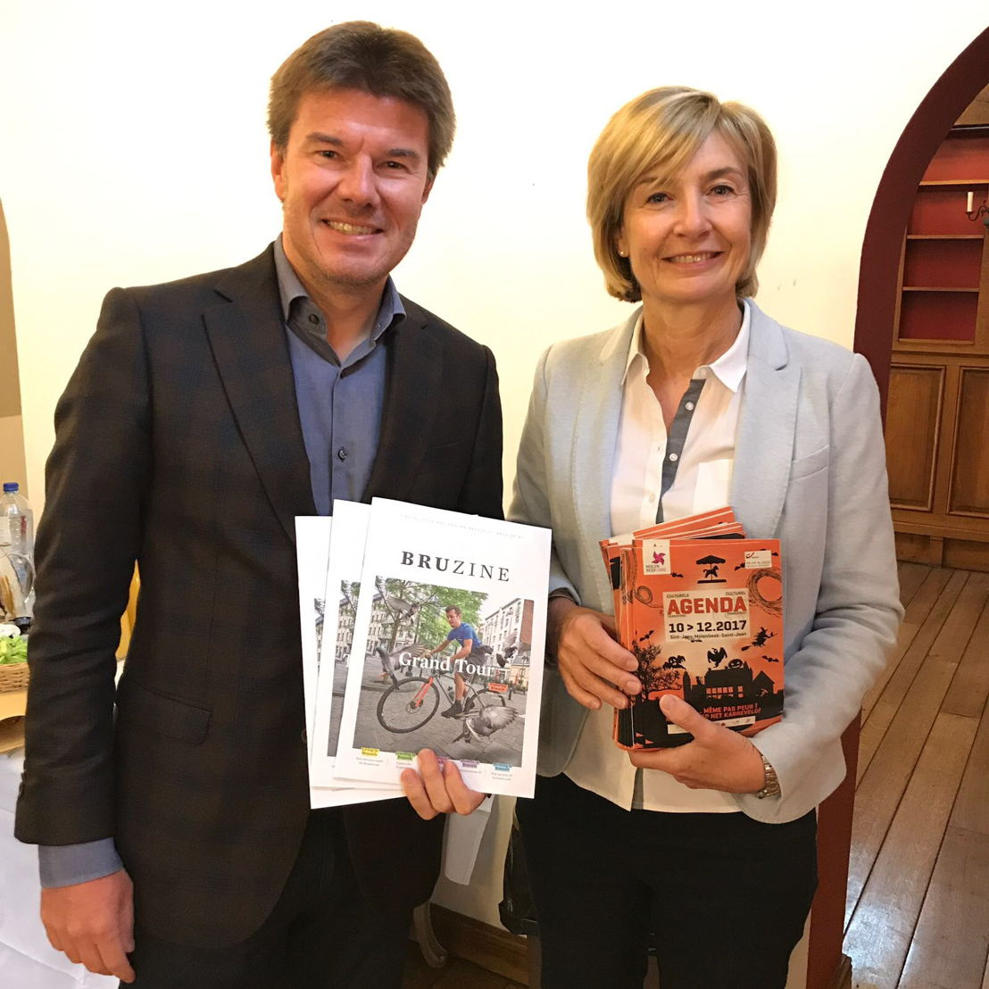 Sven Gatz et Françoise Schepmans