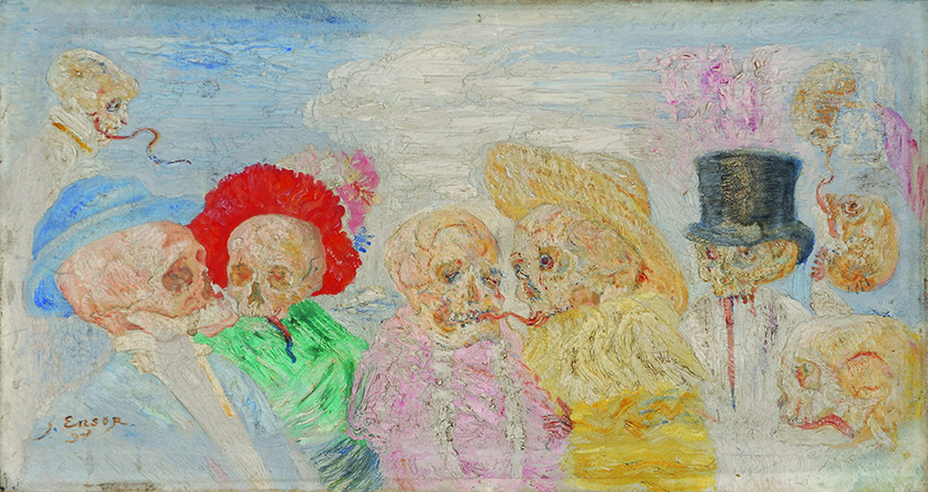James Ensor, Skeletten in travestie