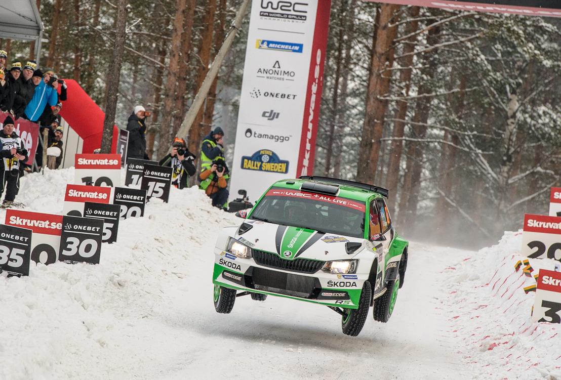 Rally Sweden: ŠKODA Motorsport's Tidemand and Veiby both on podium after thrilling battle